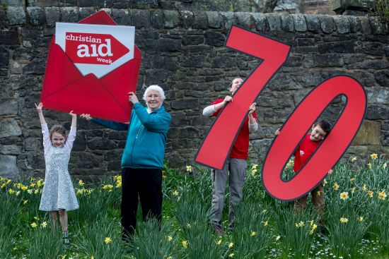 Anne Booth-Clibborn from Edinburgh has been supporting Christian Aid since it was set up in 1945, and 5 year old Shona Brown from Clarkston will be going door to door to raise funds this year